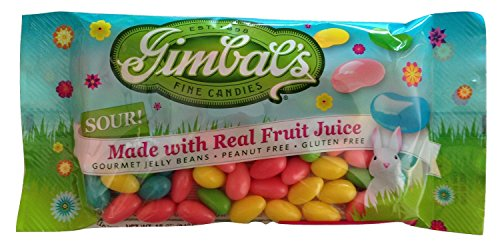 Gimbal's Fine Candies Sour Gigantic Gourmet Jelly Beans 12oz Bag Glutten Free Peanut Free (Set of 2) (Starburst Jelly Beans Sour compare prices)