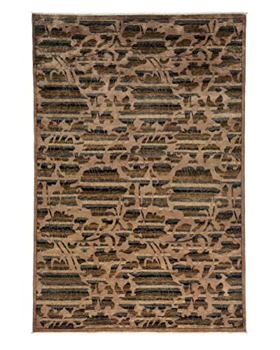 Darya Rugs Arts & Crafts Handmade Rug, Walnut, 6' x 9'