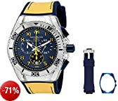 TechnoMarine TM-115070 Orologio da Polso, Display Cronografo, Uomo, Bracciale Silicone, Blu