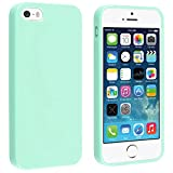 INSTEN® TPU Rubber Skin Case Compatible with Apple® iPhone 5 / 5S, Mint Green Jelly