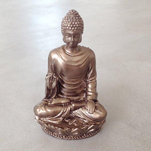Small Shakyamuni Buddha Decorative Figurine, Made of Resin in Bronze Color (Bronze Resin Statue compare prices)