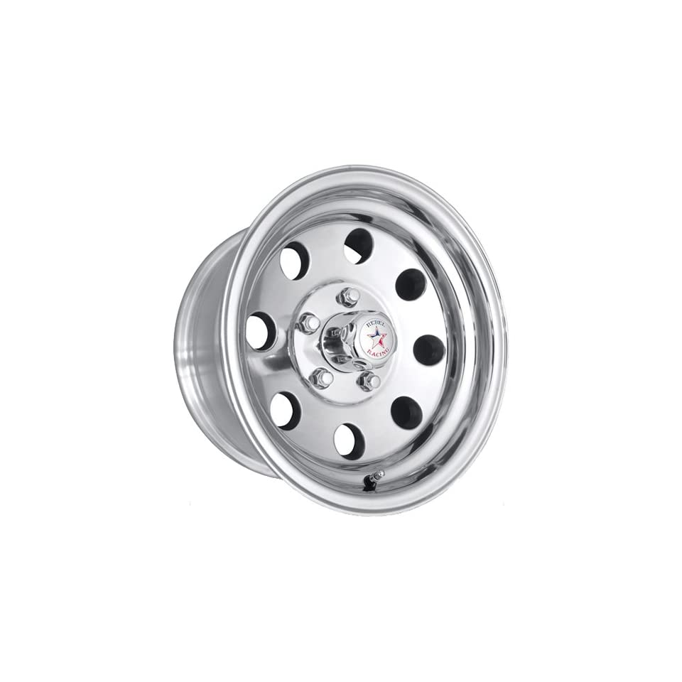 Rebel Racing Sahara 16 Polished Wheel / Rim 8x6.5 with a 0mm Offset and a 130.81 Hub Bore. Partnumber R172 6882 Automotive