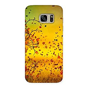 Flying Autumn Leaves Back Case Cover for Galaxy S7