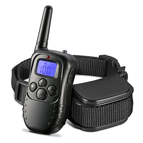 Eulay Rechargeable and Rainproof 330 yd Remote No Bark Dog Training Shock Collar for dogs with Shock Electronic ,Beep and Vibration Electric Collar