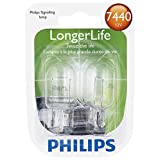 Philips 7440LLB2 7440 LongerLife Miniature Bulb, 2 Pack