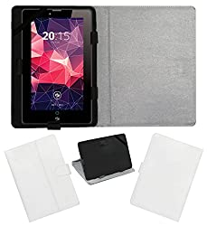 ACM LEATHER FLIP FLAP TABLET HOLDER CARRY CASE STAND COVER FOR ZEBRONICS ZEBPAD 7T500 WHITE