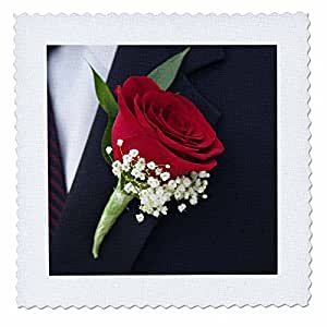 Danita Delimont - Weddings - Boutonniere on grooms lapel, Wedding - LI05 JEN0000 - Jim Engelbrecht - 10x10 inch quilt square (qs_83193_1)