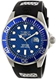 Invicta Men's 12559 Pro Diver Blue Carbon Fiber Dial Black Polyurethane Watch