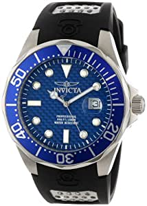 Amazon.com: Invicta Men's 12559 Pro Diver Blue Carbon Fiber Dial Black
