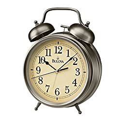 Bulova Brayton Table Top Alarm Clock - B6847 by Bulova