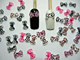 Nail Art 3d 50 Mix PRINT BOW /RHINESTONE for Nails, Cellphones
