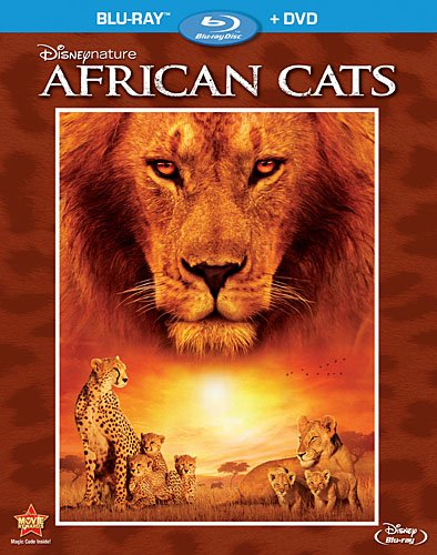 Cover art for  Disneynature: African Cats (Two-Disc Blu-ray/DVD Combo in Blu-ray Packaging)