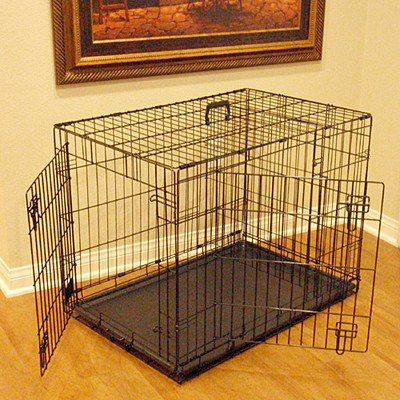 Majestic Pet 24-Inch Double Door Folding Dog