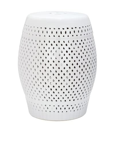 Safavieh Diamond Garden Stool, White
