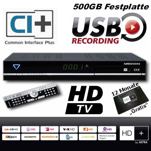 satelliten und tv receiver medion p24006 hd hd karte 12 monate gratis nutzbar hdtv sat. Black Bedroom Furniture Sets. Home Design Ideas