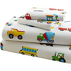 Olive Kids Trains, Planes, Trucks Twin Sheet Set