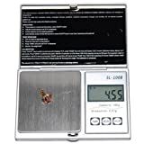 HQRP Professional 100g x 0.01g Digital Jewelry Scales Portable w/ Gramme/Ounce/Carat/Troy Ounces/GN for gold/silver/coin/gems