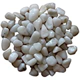 """25kg White """"B"""" Size Pebbles For Garden Decor Plant Home Decor Backyard Patio Pathway Indoor And Outdoor Gravel Soil Stone Pebbles Chips Decoration Fish Tank Substrate"""