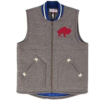 "Buffalo Bills Mitchell & Ness NFL ""Victory"" Premium Throwback Vest Men's Jacket"