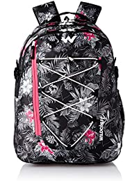 Wildcraft Polyester 45 Ltrs Black School Backpack (WC 6 Flora 4)
