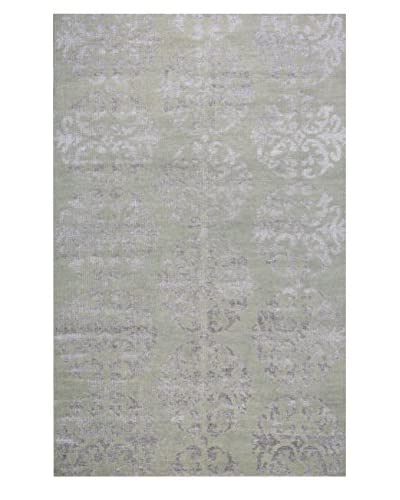 Meva Rugs Medallion Hand Knotted Rug, Taupe, 2' x 3'