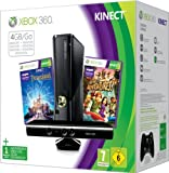 Xbox 360 4GB Kinect Holiday Bundle (Includes Kinect Adventures, Kinect Disney Land Adventures, 1 Month Xbox Live) Xbox 360