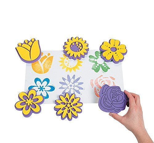 foam-flower-stamps-12-pack-by-fun-express