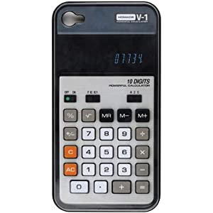 Coque iPhone 4 Calculatrice Gris Plastique rigide design Homade La