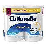 Cottonelle Clean Care Double Roll Toilet Paper, 190 Count, 4 Pack