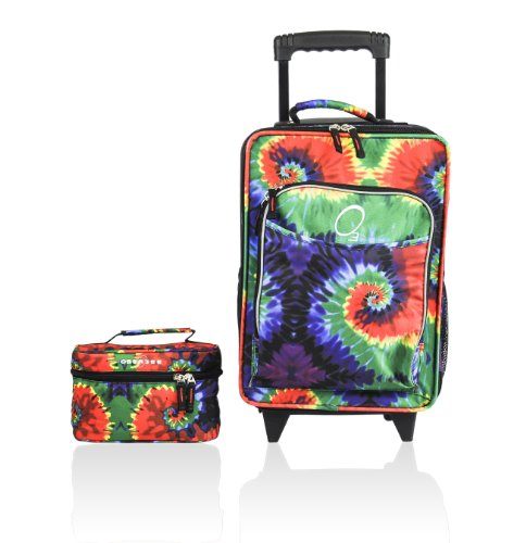 Obersee Kids Luggage And Toiletry Bag Set, Tie Dye