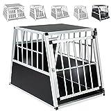 TecTake Alu Hundetransportbox -diverse Größen- (Schräge Rückseite / Single Groß)