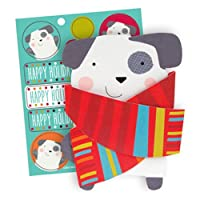 The Gift Wrap Company 20 Count Boxed Holiday Cards, Small, Cozy Pup, Multicolor