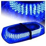 DIYAH 240 LED Law Enforcement Emergency Hazard Warning LED Mini Bar Strobe Light with Magnetic Base (Blue)