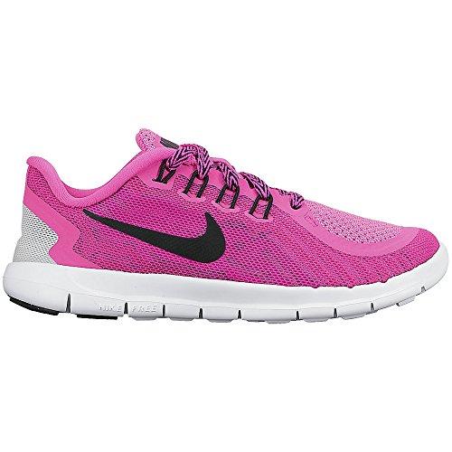 Girl's Nike Free 5.0 Pre-School Running Shoe Pink/White/Blac