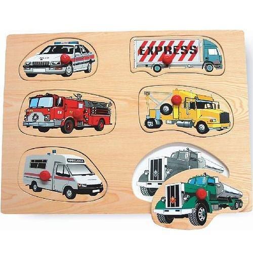 Cheap Puzzled Vehicles 2 – Wooden Peg Puzzle (B000WOXSPS)