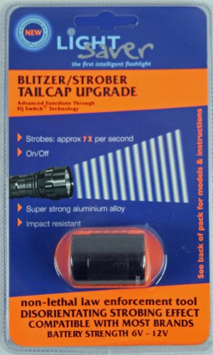 Light Saver Blitzer Strobe Tailcap For Surefire Flashlights/Torches Designed For 6P, C2, G2, G2Z, Z2 Models (Black)