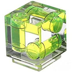 Polaroid Hot Shoe Three Axis Triple Bubble Spirit Level For Canon and Nikon Digital and Film Cameras