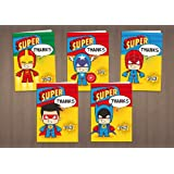 Children's Mixed Boy's Thank You Cards - Super Heroes x 20 Pack
