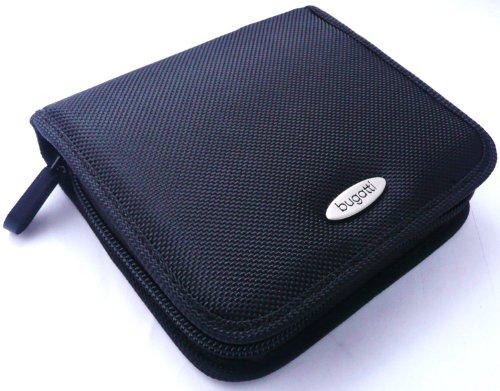 original-bugatti-caso-zip-negro-nylon-suave-case-carcasa-funda-tamano-medium-pack-bulk-adecuado-para