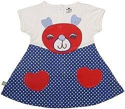 Absorba Baby Girls' Dress ( Royal_3-4 Years ,60005)