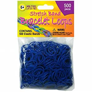Stretch Band Bracelet Loops - 500/Pkg - Royal Blue