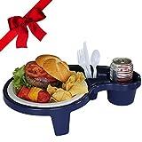 Arron Kelly Party Pal Portable Picnic Table Food Tray, Navy Blue