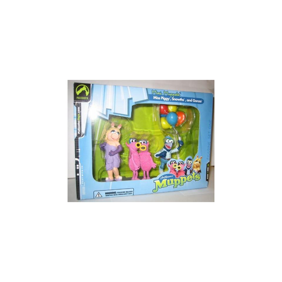 The Muppet Show Mini Miss Piggy, Snowths & Gonzo Palisades