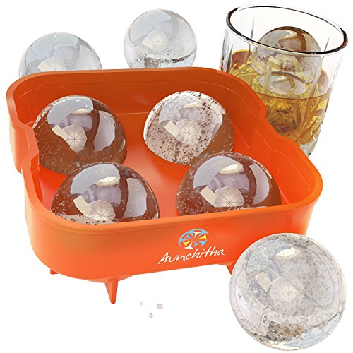 The Aunchitha Ice Ball Maker, Premium Ice Ball Mold, Ice Balls Melt Slowly Without Diluting Your Drinks