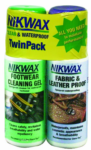 Nikwax Fabric & Leather Spray Duo-Pack for Footwear,