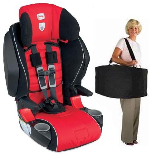 Britax - Frontier 85 SICT Combination Harness-2-Booster in Cardinal with a car seat Travel Bag