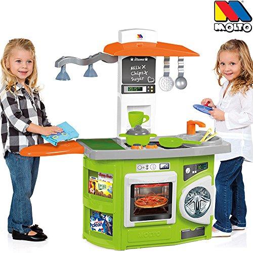 Spielküche mit Theke, 2 integrierte Lampen,