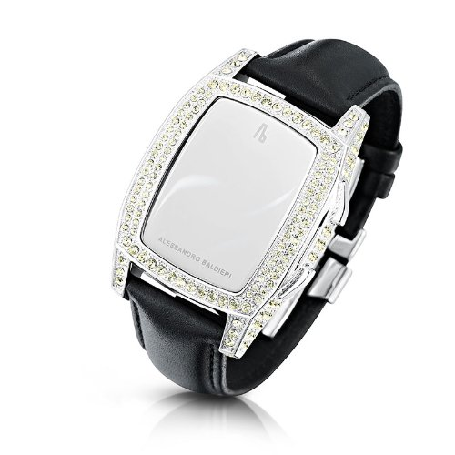 Alessandro Baldieri Ladies Limited Edition Watch End of Time Swarovski Yellow Sapphire/Black AB0041SW-YLW-BLA