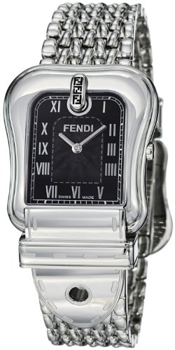 Fendi B.Fendi Large Black Dial and Milanese Bracelet Quartz Watch - F386110