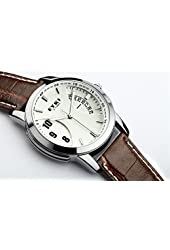 EYKI E-Times Leather Quartz Lover's Watch Male Wistwatches